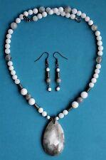 Bullseye Botswana AGATE Gemstone Pendant Necklace Set - VERY UNIQUE!