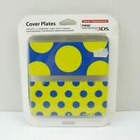Nintendo New 3DS Cover Plate Yellow Blue Polka Dot | New and Sealed | Aus Vers.