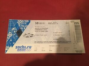 2014 Sochi Olympics TICKET 10.2.2014 Access To Olympic Park Z05 Russia