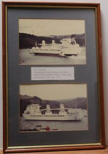Vintage Picture - POLLUX Vessel Shipping China Clay from Fowey, Cornwall