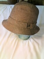 ~VINTAGE *COUNTRY GENTLEMAN* Men's Trav'ler Tweed Wool Hat
