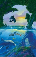 Jigsaw Puzzle Animal Fish 7 Seven Dolphins 300 pieces NEW made in USA