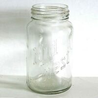 Mid West Clear Glass Quart Vintage Home Canning Jar FREE SH