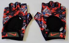 Nike Women's Printed Gym Ultimate Fitness Glove 00004000 s Black/Team Orange Medium