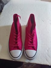 CONVERSE SNEAKERS WOMEN'S HIGH TOP SNEAKERS VIVID PINK SIZE 8 M AS CHUCK TAYLOR