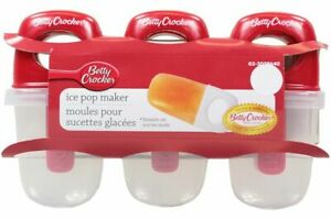 Betty Crocker Icy Pole Maker Ice Block Mould Ice Cream  - Set of 6