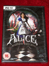 *New & Sealed* PC DVD-Rom ALICE MADNESS RETURNS For Windows 7/Vista/XP English