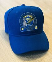 2019 St. Louis Blues Stanley Cup Hat Cap FIRST TIME Champions NHL Patch Champs B