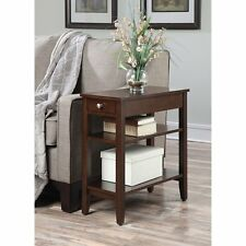 Convenience Concepts 7107159ES American Heritage 3-Tier End Table with Drawer