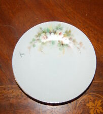 WONDERFUL VINTAGE J L MENAU HAND PAINTED FLOWERS SIGNED SMALL CABINET PLATE # 2