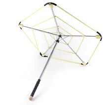 Fire Parasol, Fire Umbrella Rigid Frame with Individual and Spiral Wicks
