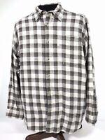 Columbia Sportwear Mens Large Check Plaid Button Down Shirt Beige Long Sleeve