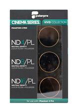 PolarPro Cinema Filter 3er Pack f DJI Phantom 4 Pro ND4 ND8 ND16 / Polfilter CPL