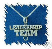 "Sterling Silver Band Leadership Team Charm+18"" Chain"