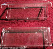 198 HARD PLASTIC SNAP CASES 6 INCH LONG, 2 1/4 WIDE BY 1 INCH  INCH  DEEP NEW