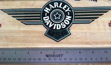 Harley-Davidson Green Fat Boy Inside Window Decal.Vintage Harley Sticker. 4 X 10