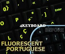 Glowing fluorescent Portuguese keyboard stickers