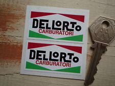 """DELLORTO Stickers 2"""" Pair Race Bike Motorbike LAMBRETTA Moto Guzzi DUCATI Vespa"""
