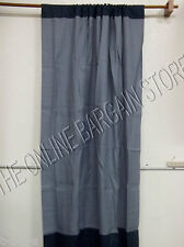 Pottery Barn West Elm Bi Color Linen POLE TOP Drapes curtains Panels 48x84 Blue
