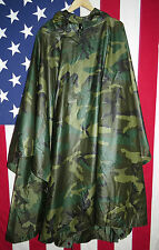 Genuine Issue US Military Poncho, Woodland Camo, NSN: 8405-01-100-0976 TURN IN