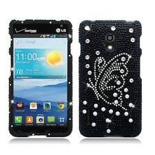 For LG Optimus F7 US780 Crystal Diamond BLING Hard Case Cover Butterfly Pearl