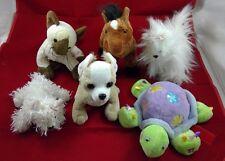 Webkinz Lot of 6 Plush Stuffed Animals 3 Dogs Turtle Cat Horse NO CODES Ganz