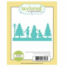 Taylored Expressions Cutting Die DO YOU WANNA BUILD A SNOWMAN?  Border ~TE952