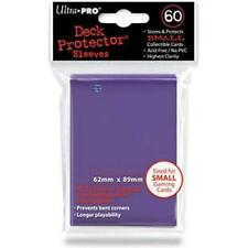 Ultra Pro Deck Protector Small Card Sleeves 60 x PURPLE YuGiOh Vanguard 62x 89mm