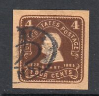 1903 stationery cut square Sc W392 used wrapper 4c brown on manila