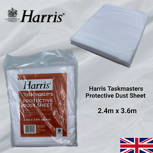 Harris Dust Sheets Heavy Duty Polythene Decorating DIY Paint Protection Cover