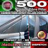 Fiat 500 595 & Abarth A & B Pillar CARBON FIBRE OVERLAY Decals Stickers Vinyls