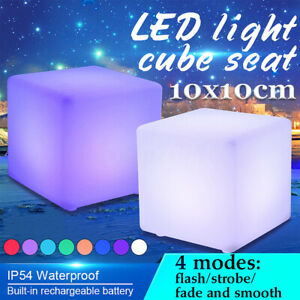 4 Size Cocktail Tables Chair Color Changing LED Club Lighting Stool Night  N