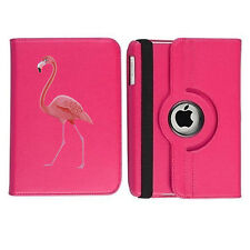 Cute Flamingo 360 Rotating Case Hot Pink Cover for iPad 6th Generation