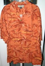 """""""TOMMY BAHAMA"""" Exclusive 100% SILK Sz M Copyrighted Palm Shirt in MINT Con"""
