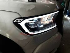 FORD RANGER T6 WILDTRAK MK2 WHITE LED FRONT HEAD LIGHT LAMP COVER TRIM 2015-2017