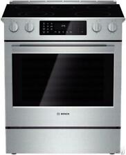 "Bosch 800 30"" 5 Elements Slide-in Smoothtop Electric Range Hei8054U Good"