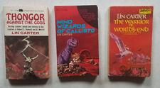 Lin Carter paperback (lot of 3)