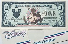 DISCONTINUED DISNEY DOLLARS 1 DOLLAR MICKEY MOUSE MONEY SERIES 1990 BANKNOTE USA