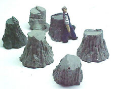 Stumps Assortment #7 cast resin All Scales see chart O,S,HO,HOn3 logging scenery