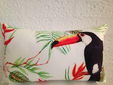 Tommy Bahama Outdoor Indoor Tropical Bird Parrot Lumbar Retro Cushion Cover