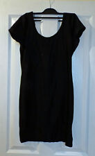 River Island Disco Ballerina Dress - Black Size 12 - Shiny Lycra Spandex