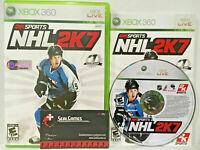 NHL 2K7 07 Microsoft Xbox 360 MINT DISC Complete CIB VERY Fast Ship World!