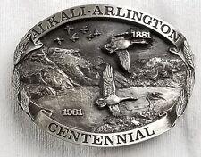 Vintage alkali Arlington centennial belt buckle 1981 eastern oregon siskiyou