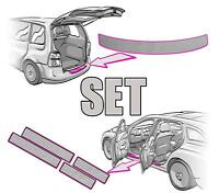 VW PASSAT B8 3G Ladekantenschutz+Einstiegsleisten SET 3D CARBON SILBER