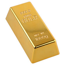 Fake Plated Gold Bar Bullion Door Stop Paperweight Desk Table Office Decoration