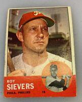 1963 Topps # 283 Roy Sievers Baseball Card Philadelphia Phillies