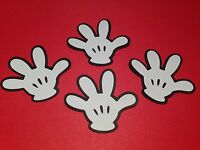 "DISNEY DIE CUTS SET OF 12 MICKEY MOUSE HANDS 3"" H SCRAPBOOKING PARTY FAVORS"