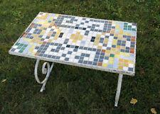 TABLE BASSE FER FORGÉ et MOSAIQUE,jolie table mosaïc,design,fer forgé,ARTISTE ?