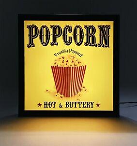 POPCORN - LED Light Box Sign - Ash Wood - for Home Theater / Cinema (38)