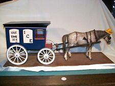 Breyer Glossy Dapple Grey Old Timer Draft Horse Pulling Custom Ice Wagon OOAK!
